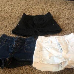 (set of 3) refuge jean shorts